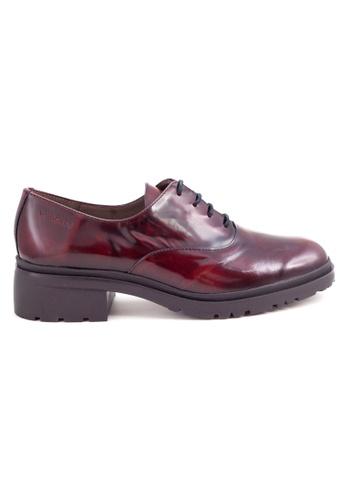 Shu Talk red Classic British Vintage Stylish Oxford Lace Heels Shoes SH397SH0GA2KSG_1