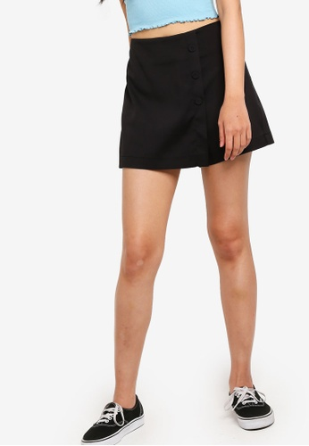Something Borrowed black Front Buttons Skorts 7D461AA36430F7GS_1