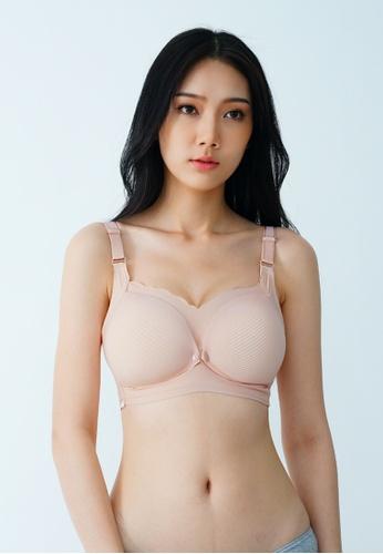 9months Maternity pink Pink Seamless Front Snap Nursing Bra B5C1BUS6A4D909GS_1