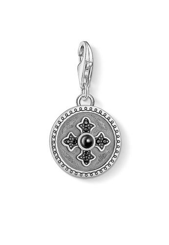 "THOMAS SABO grey Charm pendant ""disc Royalty cross"" B827FACA12D5B9GS_1"