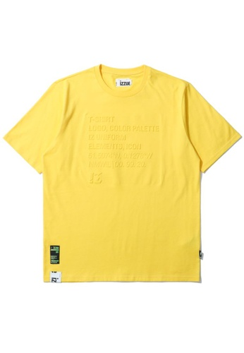 izzue yellow Logo embossed tee B423EAAFF8A934GS_1