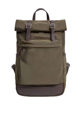 MANGO Man green Lapel Mixed Backpack 0242EAC4EB0E58GS_1
