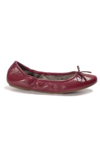 Shu Talk red AMAZTEP New Comfortable Leather Ballerina Ballet Flats 858EDSH486BFC1GS_1