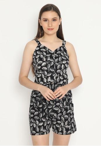 KICHI BATIK black Setelan Batik Mayang Elok Short Set EDC0EAA8554606GS_1