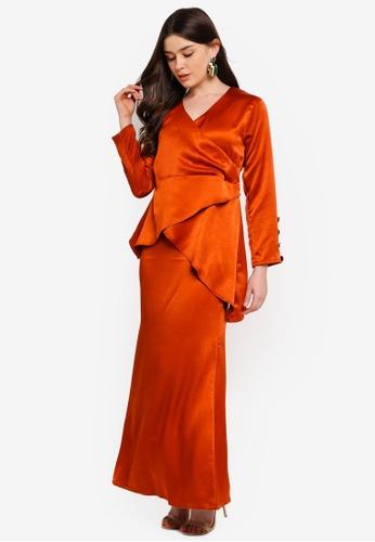Jemma Modern Kurung from UMMA in Orange