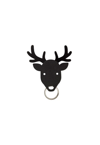 Qualy Qualy Deer Key Holder (Black) 3D660HLE581B66GS_1