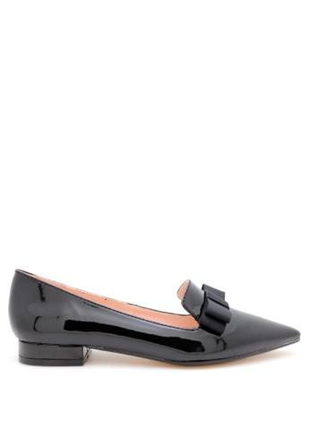 PRODUIT PARFAIT black Patent Pointed Toe Ballerina B30FBSH7CD0BF7GS_1