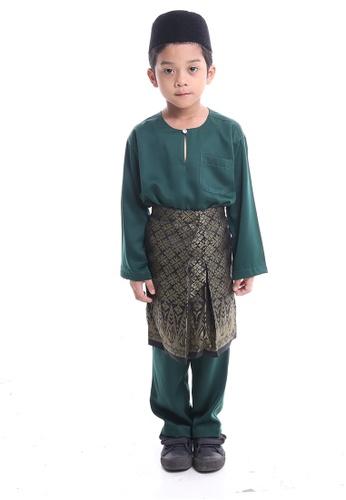 Denai Boutique green Baju Melayu Anas E7F22KA05CD6A9GS_1