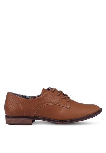 Bata 褐色 綁帶牛津鞋 DC23FSH3F634B9GS_1