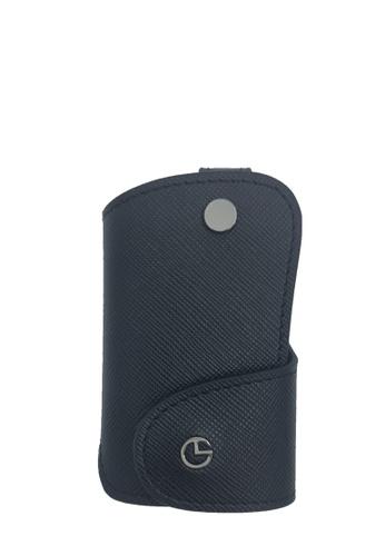 Goldlion black Saffiano Leather Key Holder (Black)- Small A0C45AC25AA036GS_1