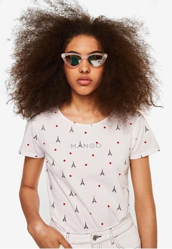 Mango white Mango Embroidery T-Shirt B2FBBAA4E4CBBEGS_1