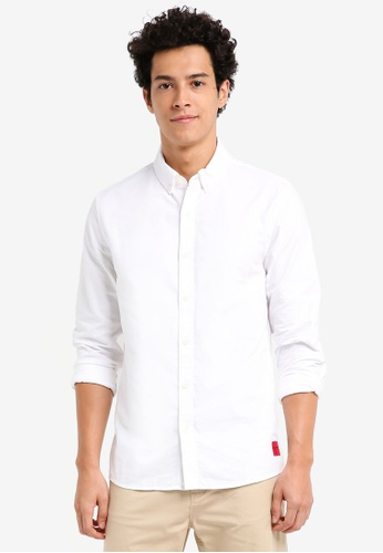 Calvin Klein white Wilbens Regular Fit Long Sleeve Shirt - Calvin Klein Jeans 209ABAA5DFB697GS_1