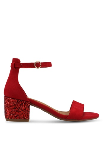 Rubi red Ivy Low Block Heels CDC1ESH1E87E7CGS_1