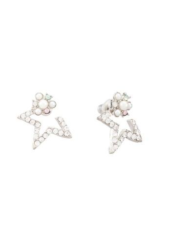 Red's Revenge white Half Star Stud Earrings RE144AC0RRUUMY_1