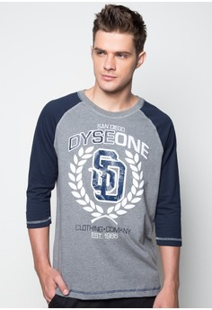 Raglan Quarter Sleeves T-shirt