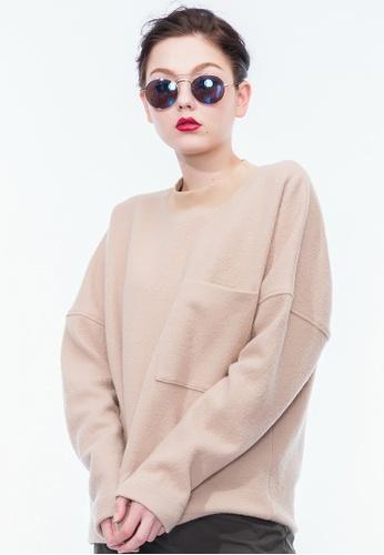 Alpha Style beige James BF Boiled Wool Sweatshirt AL461AA0GYGRSG_1