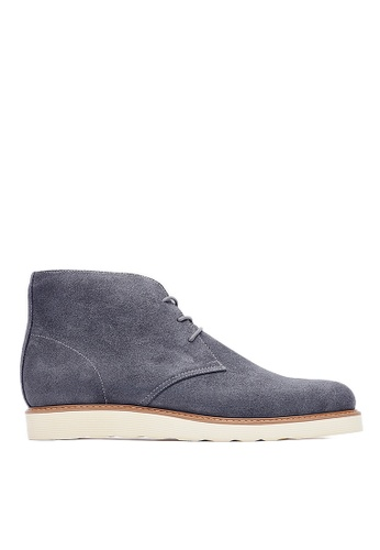 Life8 grey Formal Waterproof Leather Desert Boots-09684-Grey LI283SH0GNU0SG_1