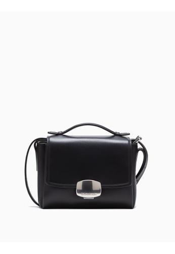 Calvin Klein black Logo Buckle Crossbody Bag 6A1F0AC732B5EBGS_1