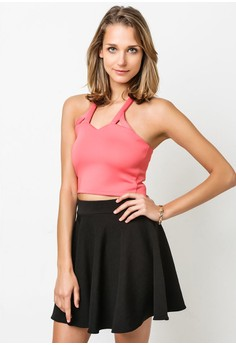 Coral Louise Crop Top
