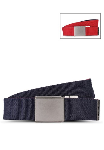 Superdry navy Exclusive to Zalora - Reversible Canvas Belt FC853ACE873E82GS_1