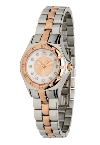 CLETA silver and gold Manta Ray Watch CL733AC86FTTPH_1