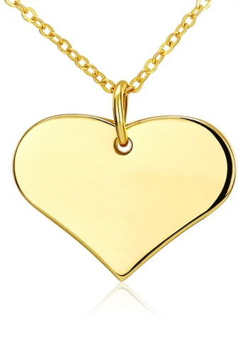 Tiaria yellow Tiaria Gold Plated Necklace Pendant Fashion AKN044--K09 41D66AC79D0270GS_1