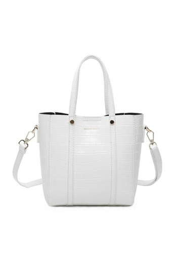 Milliot & Co. white Selma Tote Bag 59BB9AC6A8F689GS_1