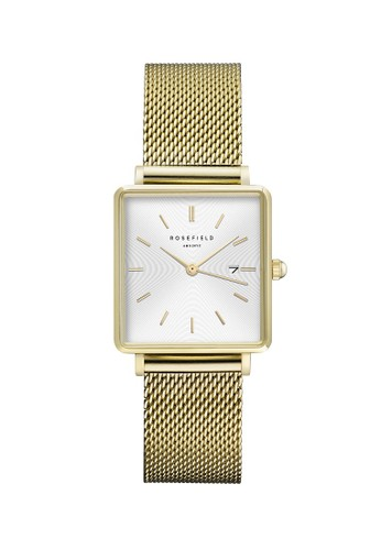 Rosefield gold Rosefield The Boxy White Sunray Mesh Gold QWSG-Q03 FDDEAACD7F17A8GS_1