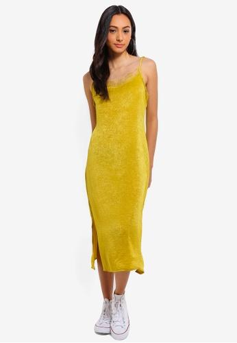 Cotton On yellow Woven Audrey Lace Midi Slip Dress DF4F0AAFF465BCGS_1