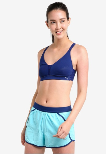 Puma blue Yogini Show Off Sports Bra PU549US22ITDMY_1