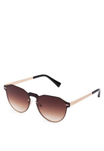 Hawkers gold HAWKERS Gold Brown Gradient METAL Sunglasses 2DB7FGL31F83CBGS_1