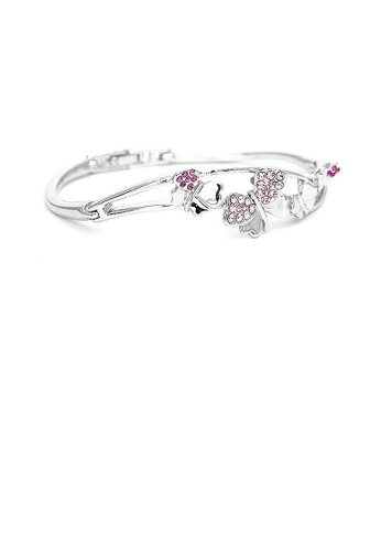 Glamorousky purple Cutie Heart Bangle with Purple Austrian Element Crystals 1EE01ACC760DCAGS_1