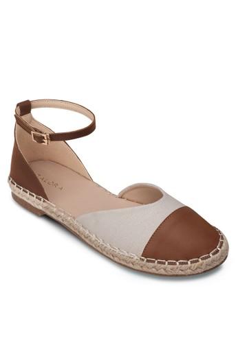 側空繞踝麻編懶zalora 評價人鞋, 女鞋, 鞋