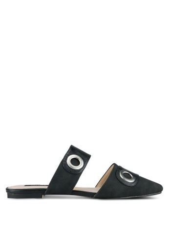 ZALORA black Eyelets Pointed Toe Flats 264A4SH484C992GS_1