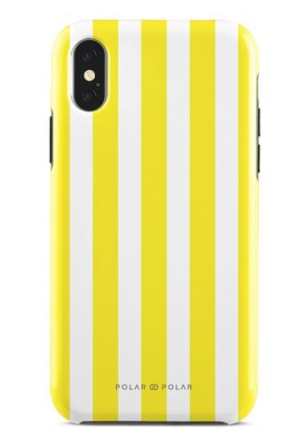 Polar Polar yellow Yellow Stripe Dual-Layer Tough Case Glossy For iPhone X / XS 72489AC13C3286GS_1
