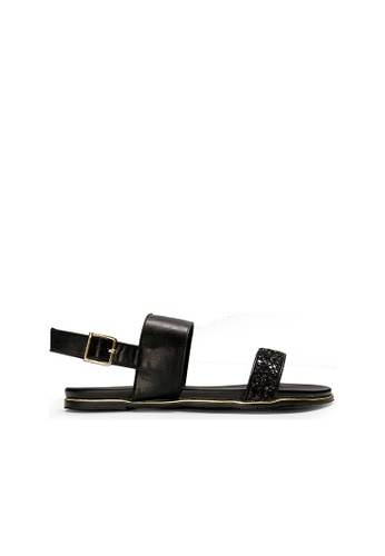 SEMBONIA black SEMBONIA Synthetic Leather Flat Sandal (Black) CAB73SH8DEB06DGS_1