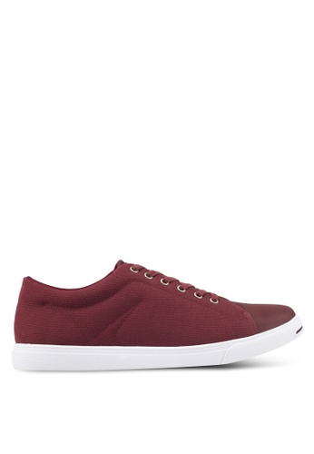 ZALORA brown Mixed Material Canvas Sneakers FC43ESH5D24586GS_1