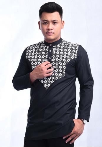UA BOUTIQUE black Kurta Batik SEKLC05-011 (Black) 144A8AA79AAD07GS_1