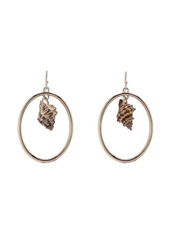 Violeta by MANGO gold Shell Hoop Earrings C93EFAC74BC0DEGS_1