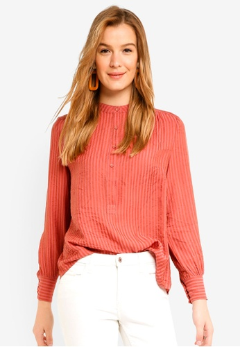 ICHI red Asta Blouse AB4F1AA5042BBBGS_1