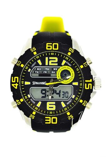 Spalding yellow Spalding Timepiece SP-051 BEEFDAC2E97414GS_1