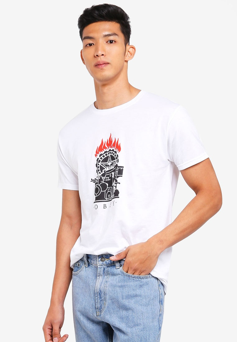 Obey Tee Printing White Press OBEY Stencil rnYxrtwHF