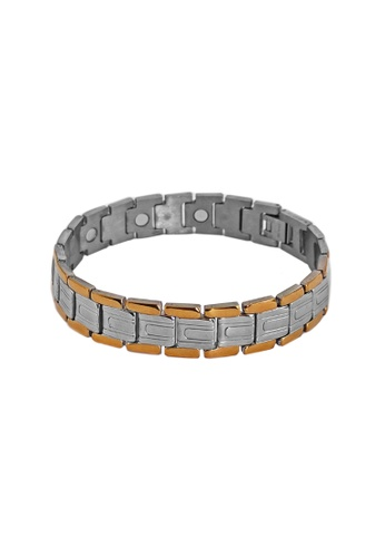 Elfi silver Elfi Stainless Steel Magnetic Power Energy Health Bracelet Bangle 03 EL186AC0RZKMMY_1