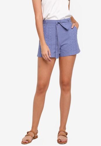 ZALORA blue Patch Pocket Shorts F0358AA9527181GS_1