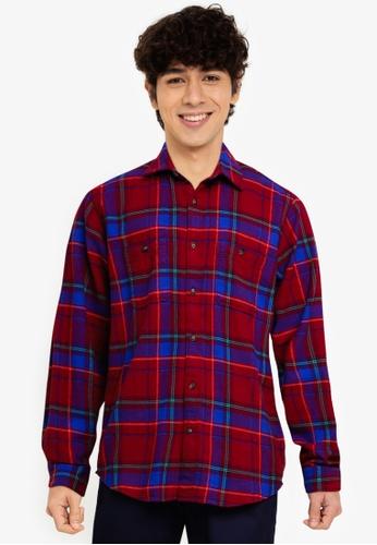 GAP purple V-Ls Flannel Shirt C53C9AAB2DE310GS_1