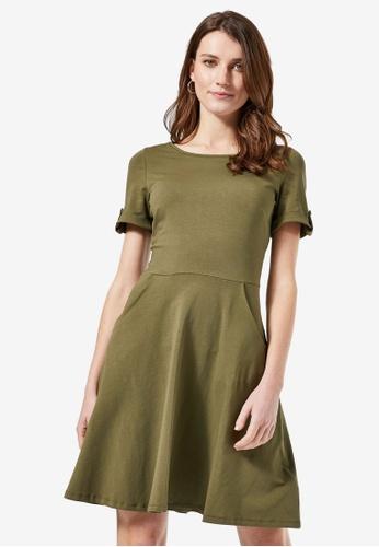Dorothy Perkins green Plain T-Shirt Dress 3D3B1AAEC0B17EGS_1