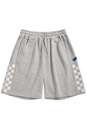 Twenty Eight Shoes grey Reflective Plaid Printed Shorts 3656S21 672F6AA5625CC8GS_1