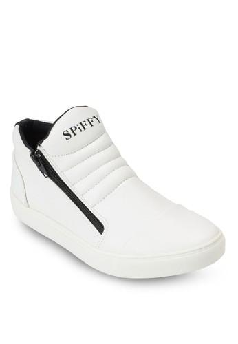側拉鍊高筒運動鞋、 鞋、 鞋Spiffy側拉鍊高筒運動鞋最新折價