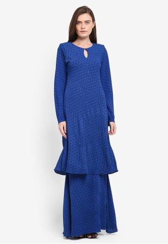 Zuco Fashion blue Mini Kurung Chiffon Mermaid ZU882AA0SXV9MY_1