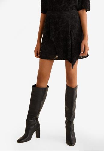 Mango black Textured Jacquard Skirt 6981EAAD257AEFGS_1